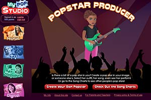 Create your own popstar, in My Pop Studio